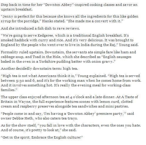 Downton Abbey Article pg 2